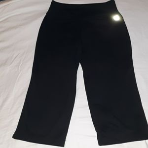 Lands End Cropped Yoga Pants Leggings Small 6-8